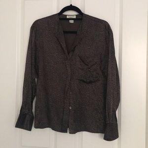 Christian Dior Silk Pajama Top
